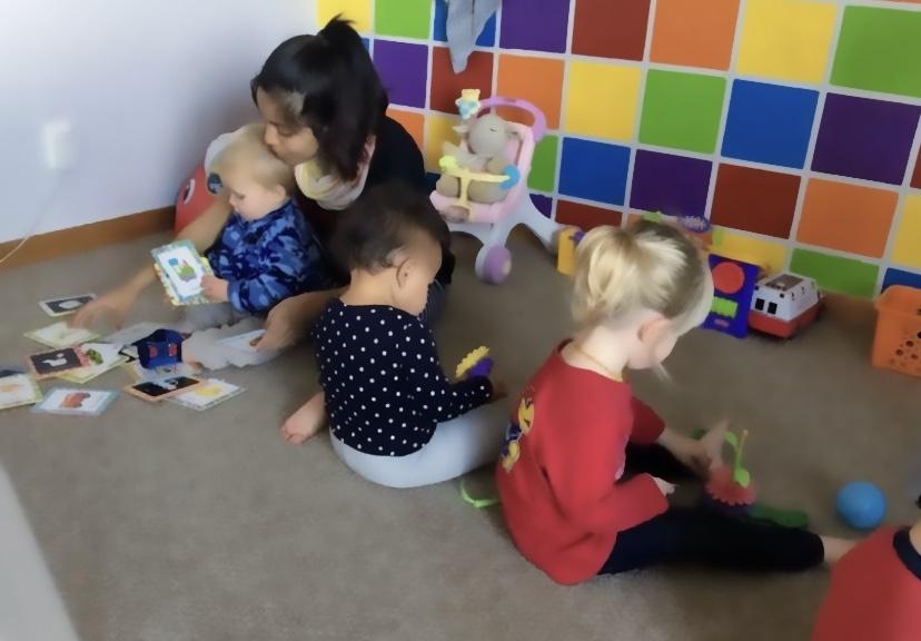 Spanish teacher with kids